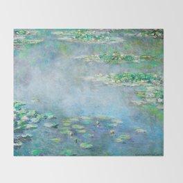Monet Water Lilies / Nymphéas 1906 Throw Blanket