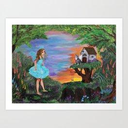 Fairy Play Art Print