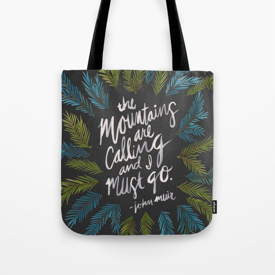 Mountains Calling – Charcoal Tote Bag