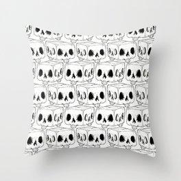 Infinite Square Skulls  Throw Pillow