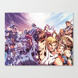 Street Fighter Heroes Canvas Print