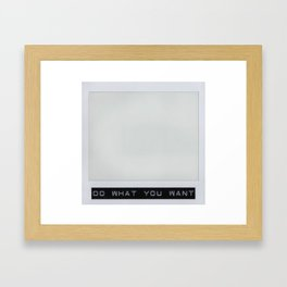 Carte Blanche Polaroid Collage Framed Art Print