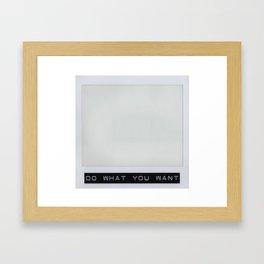 Carte Blanche Polaroid Collage Framed Art Print