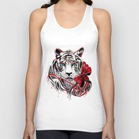 tiger Tank Tops featuring White Tiger by Felicia Cirstea