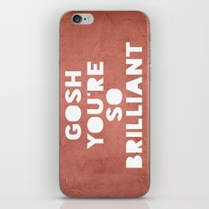 Gosh (Brilliant) iPhone & iPod Skin