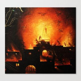 The flaming infurno Canvas Print