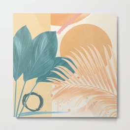 Abstract Tropical Art XII Metal Print