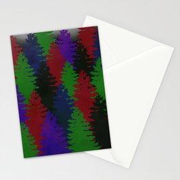 Misty Pine Trees Stationery Cards