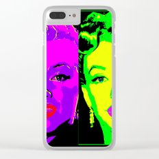 Marilyn - Neon 2 Clear iPhone Case