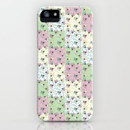 Pajama'd Baby Goats - Small Patchwork iPhone Case