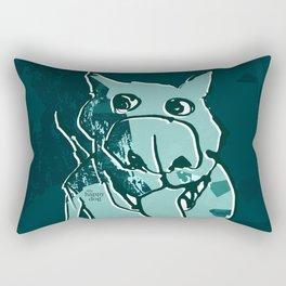 Citydog, teal Rectangular Pillow