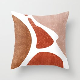 Terracotta Art Print 3 - Terracotta Abstract - Modern, Minimal, Contemporary Abstract - Brown, Beige Throw Pillow