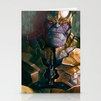 thanos Stationery Cards featuring Thanos: Infinity Gauntlet  by MATT DEMINO