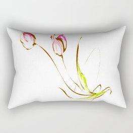 TULIPS-PAINTING Rectangular Pillow