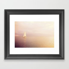 Out Across the Endless Sea Framed Art Print