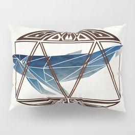 whale in the icosahedron Pillow Sham
