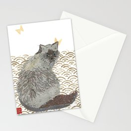 CAT, SEIGAIHA Stationery Cards