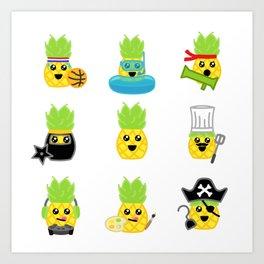Pineapple Party! Art Print