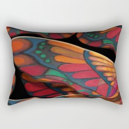 """A thousand colors of butterfly wings"" Rectangular Pillow"