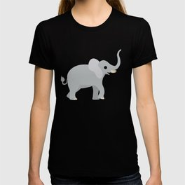 Cute Elephant Left View T-shirt
