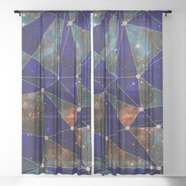 Stars Connections Sheer Curtain