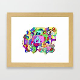 Can you spot the faces? Framed Art Print