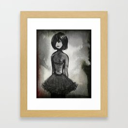 In a World of Darkness Framed Art Print