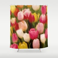 tulips Shower Curtains featuring *Tulips* by Mr & Mrs Quirynen