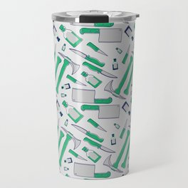 Murder pattern Green Travel Mug