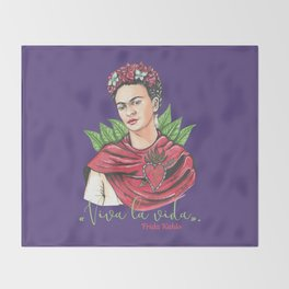 Frida Viva la vida Throw Blanket