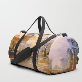 Snow in London Duffle Bag
