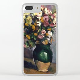 "Paul Cezanne ""Still Life with Flowers in an Olive Jar"" Clear iPhone Case"
