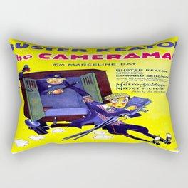 Vintage poster - The Cameraman Rectangular Pillow