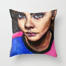 Cara Delevingne:) Throw Pillow