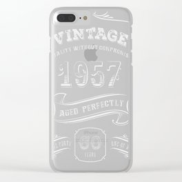 Vintage-1957---60th-Birthday-Gift-Idea Clear iPhone Case