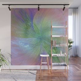 Mystic Warmth Abstract Fractal Wall Mural