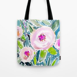 Ballerina Blow Out Floral Tote Bag