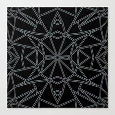 Ab Star Black and Grey Canvas Print