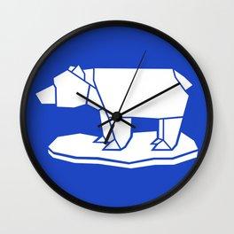 Origami Polar Bear Wall Clock