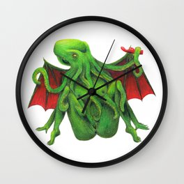 Cum Of Cthulhu Wall Clock