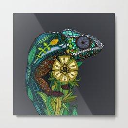chameleon pewter Metal Print