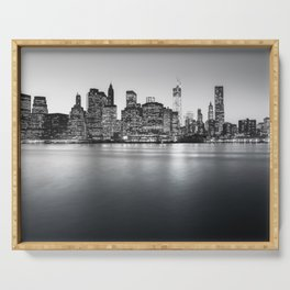 New York City Skyline - Financial District Serving Tray