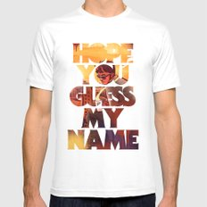 Hope you Guess my Name - Black Mens Fitted Tee White MEDIUM