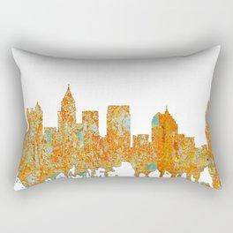 Atlanta, Georgia Skyline - Rust Rectangular Pillow