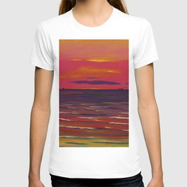Marine, Soir - Red Skies at Night ... landscape painting by Leon Spilliaert T-shirt