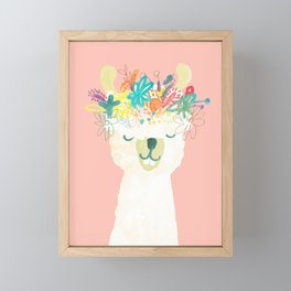 Llama Goddess Framed Mini Art Print
