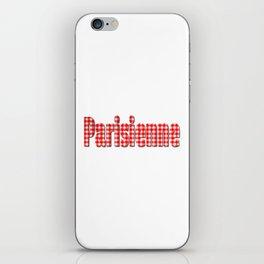 Parisienne Gingham Word iPhone Skin