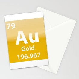 Gold Au chemical element Stationery Cards