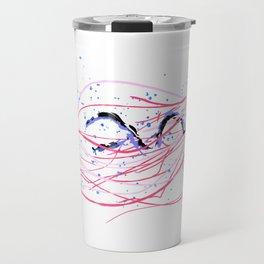 the dance - jellyfish and bubble (pink / purple) Travel Mug