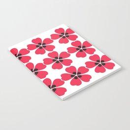 Japanese Sakura Floral Pattern - White Notebook